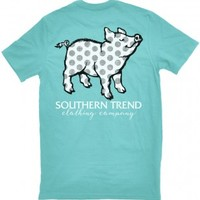 Distressed Polka Dot Pig T-Shirt