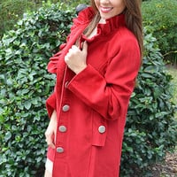 Stay Warm With Me Jacket: Red