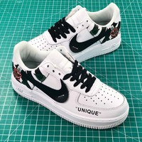 Off White X Nike Air Force 1 Low Premium Af1 White Sport Shoes - Best Online Sale