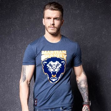 Short Sleeve Summer Korean Round-neck Strong Character Print Cotton Simple Design T-shirts [10488640579]