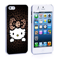 Leopard Pattern Hello Kitty iPhone 4s iPhone 5 iPhone 5s iPhone 6 case, Galaxy S3 Galaxy S4 Galaxy S5 Note 3 Note 4 case, iPod 4 5 Case