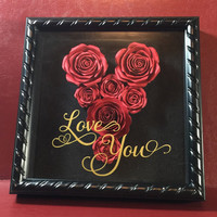 Valentines Day Gift - I Love You - Wall Decor - Home Decor - Wall Hanging - Valentines Day Present - Wedding Decor - Wedding Gift