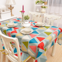 Simple Design Cotton Tablecloth [6283662662]