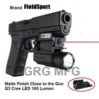 Tactical Pistol Compact Red Laser with QD Quick Release Flash Light Compatible with M1913 weaver rail