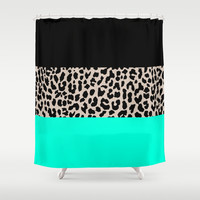 Leopard National Flag VII Shower Curtain by M Studio