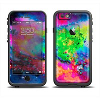 The Neon Splatter Universe Apple iPhone 6 LifeProof Fre Case Skin Set