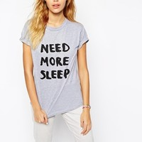 Adolescent Clothing Boyfriend T-Shirt With Need More Sleep Print