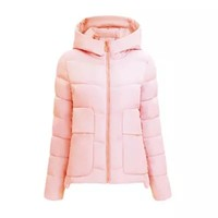 Trendy 2018 Women's Winter Jacket Plus Size Womens Parkas Thicken Warm Hooded Coat Women's Short Coats Slim Cotton Padded Basic Tops W8 AT_94_13