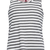 Full Tilt Multi Bar Back Stripe Girls Sharkbite Tank Grey Combo  In Sizes