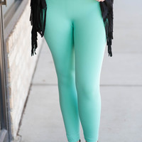Mint Fleece Lined Leggings