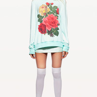 BARRYMORE BAGGY BEACH JUMPER at Wildfox Couture in  MINT CHIP, -CLEAN WHITE