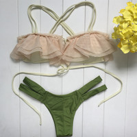 Unique Newest Retro Style Bikini Set Womens Swimsuit Beach Bathing Suits Summer Gift Free Shipping