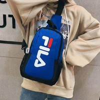 FILA 2019 new color men and women fashion crossbody bag shoulder casual bag Blue