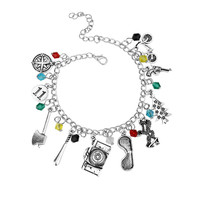 Free Shipping Stranger Things Charm Bracelet Europe and the United States TV The Science Fiction Thriller Punk Style Bracelet