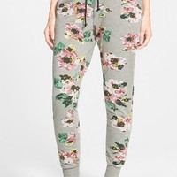 Junior Women's House of Mental Floral Print French Terry Jogger Pants,
