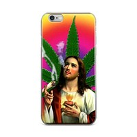 Mary Jesus Mother Nature Jesus Christ Smoking A Weed Marijuana Cannabis Pot Joint iPhone 4 4s 5 5s 5C 6 6s 6 Plus 6s Plus 7 & 7 Plus Case