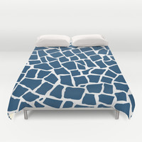 Mosaic Zoom Navy Duvet Cover by Project M   Society6