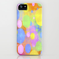 Grunge Pastel Polka Dots iPhone & iPod Case by tjc555   Society6