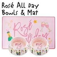 Rose All Day Bowls and Placemat Set