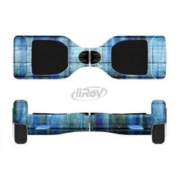 The Grungy Dark Blue Washed Wood Full Body Skin Set for the Smart Drifting SuperCharged Transportation iiRov