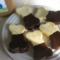Carob Dipped Bacon Biscuit  Gourmet Dog Treat by LePetitTreat