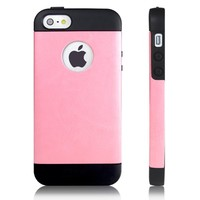 iPhone 5S Case, JETech® Gold Super Fit iPhone 5/5S Case for Apple iPhone 5 5S Logo Cut-Out Fits AT&T, Sprint, Verizon, T-Mobile (Pink)