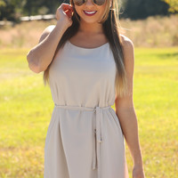 Can't Breathe Without You Dress: Taupe