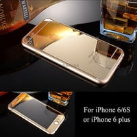 [Front & Back] Mirror Effect Tempered Glass Screen Protector For iPhone 6/S/Plus