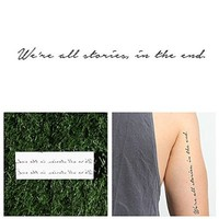 Tattify Doctor Who Quote Temporary Tattoo - Trenzalore (Set of 2) - Other Styles Available and Fashionable Temporary Tattoos