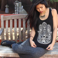 Talk to the Hamsa Hand Graphic Tank