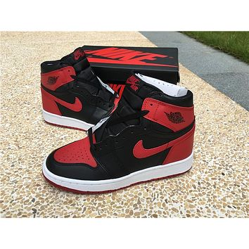 "Air Jordan 1 Retro ""Banned"" Basketball Shoes 36-47"