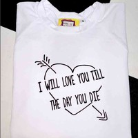 SWEET LORD O'MIGHTY! TILL THE DAY YOU DIE CROP TEE