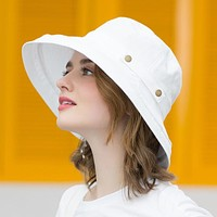 icebear Summer Cotton Sun Hats For Women Wide Brim And Breathable Bucket Hats Youth Fashion Caps