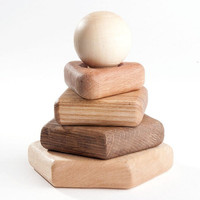 Wooden Stacking Toy Fine Motor Skills  Learning Toy Education Toy Montessori Wood Toys Organic Handmade Wooden Toys for Kids