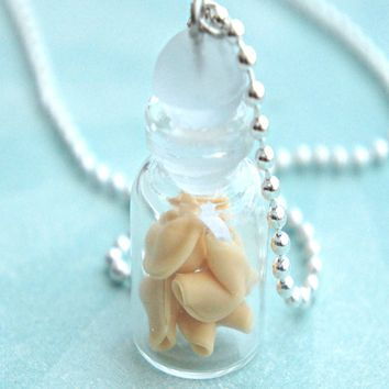 fortune cookies in a jar necklace