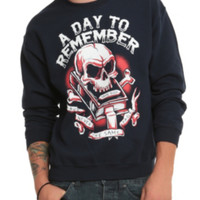 A Day To Remember Skull Book Crew Pullover