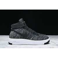 AIR FORCE 1 ULTRA FLYKNIT MID - BLACK / WHITE AF1