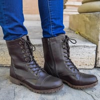 Adventure Often Brown Lace Up Boots
