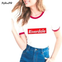 T Shirt 2018 Summer Fashion Women T Shirt Riverdale Letter Design T-shirt Funny Tshirts Harajuku Slim  tees lovrly tops