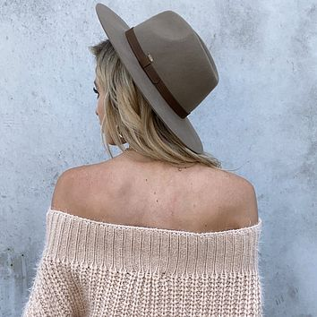 Close to Home Brown Wool Hat