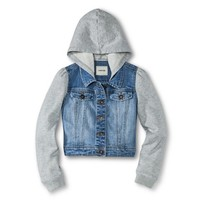 Girls' Hooded Jean Coat