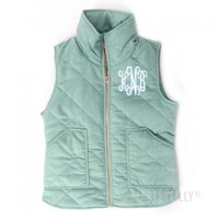 Monogrammed Quilted Vest | Marley Lilly