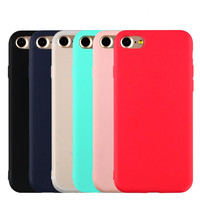 """2017 New Ultra Thin Matte Mobile Phone Cases For iPhone 5 5S SE 6 6S 7 7 Plus 4.7"""" 5.5inch Luxury Soft TPU Comfort Back Cover"""