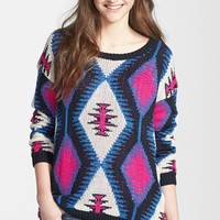 Hot & Delicious Geometric Pattern Pullover (Juniors) (Online Only) | Nordstrom