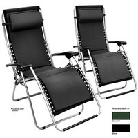 Set of 2 Foam Padded Zero Gravity Lounge Recliners