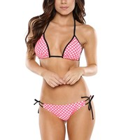 WATERMELON POLKA DOTS SIMPLY FUN TRIANGLE BY SURF STYLE