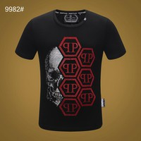 Philipp Plein PP Black Men Fashion T-Shirt Top Tee