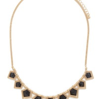 Geo Faux Stone Necklace