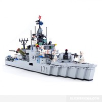 Destroyer Class Warship - Lego Compatible