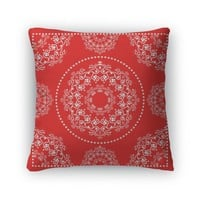 Throw Pillow, Bright Red Bandana